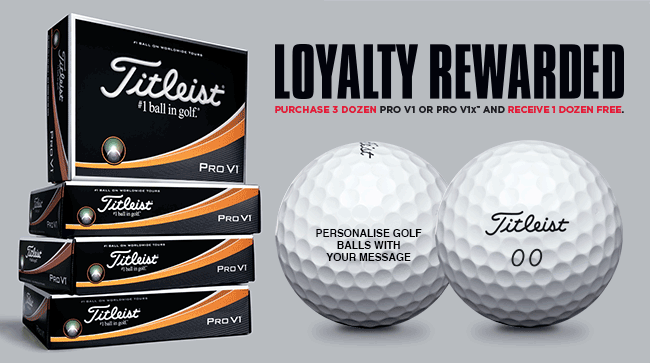 Titleist Loyalty Golf Ball Promotion